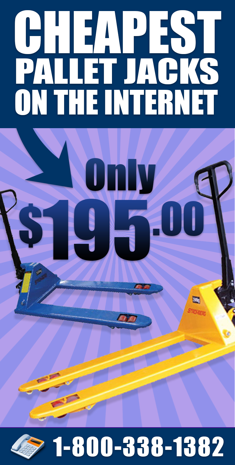 Your source for cheapest pallet jacks on the web!