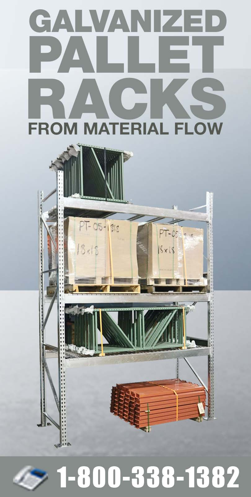 Stromberg Galvanized Pallet Racking from Material Flow