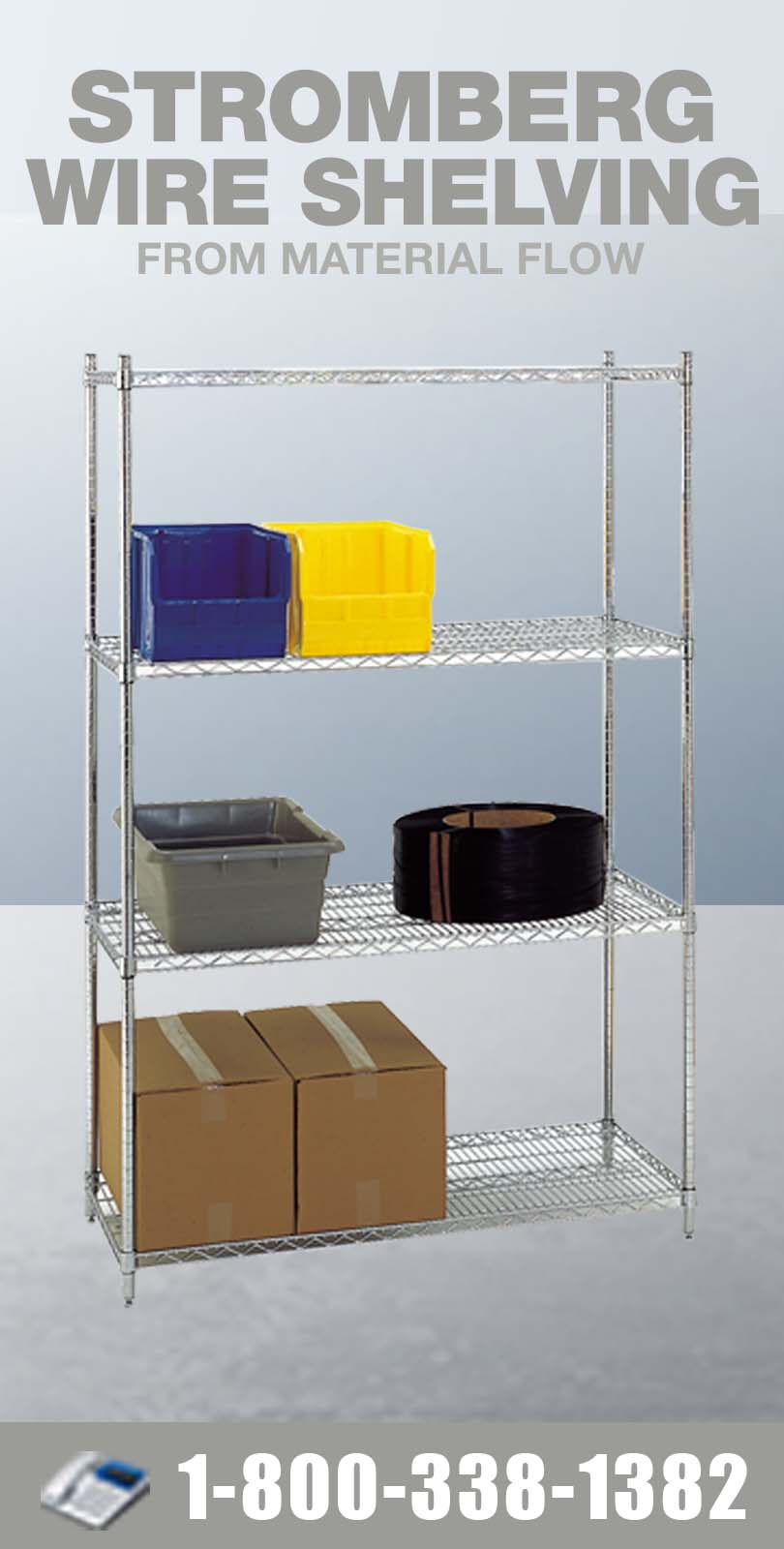 Stromberg Wire Shelving from Material Flow